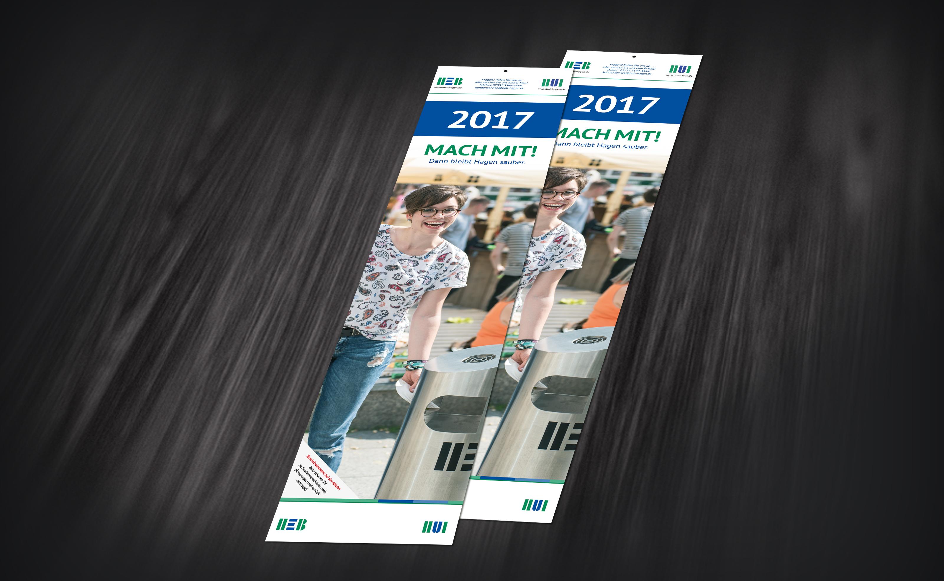 HEB-Abfuhrkalender 2017 THEMA: Stadtsauberkeit