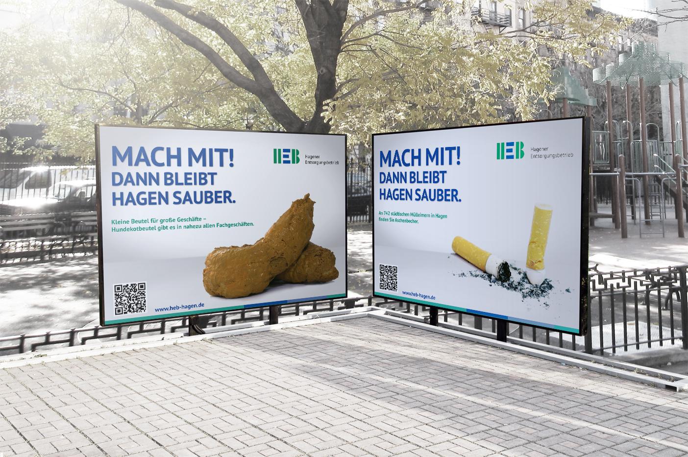 HEB Plakatkampagne 2017: Stadtsauberkeit