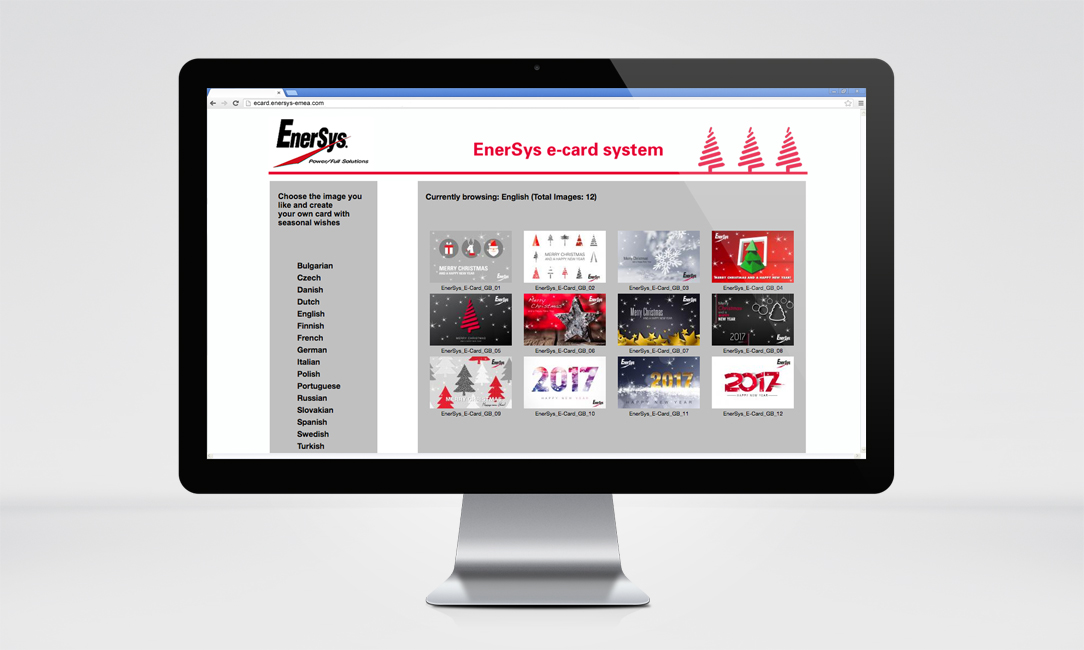 EnerSys E-Cards