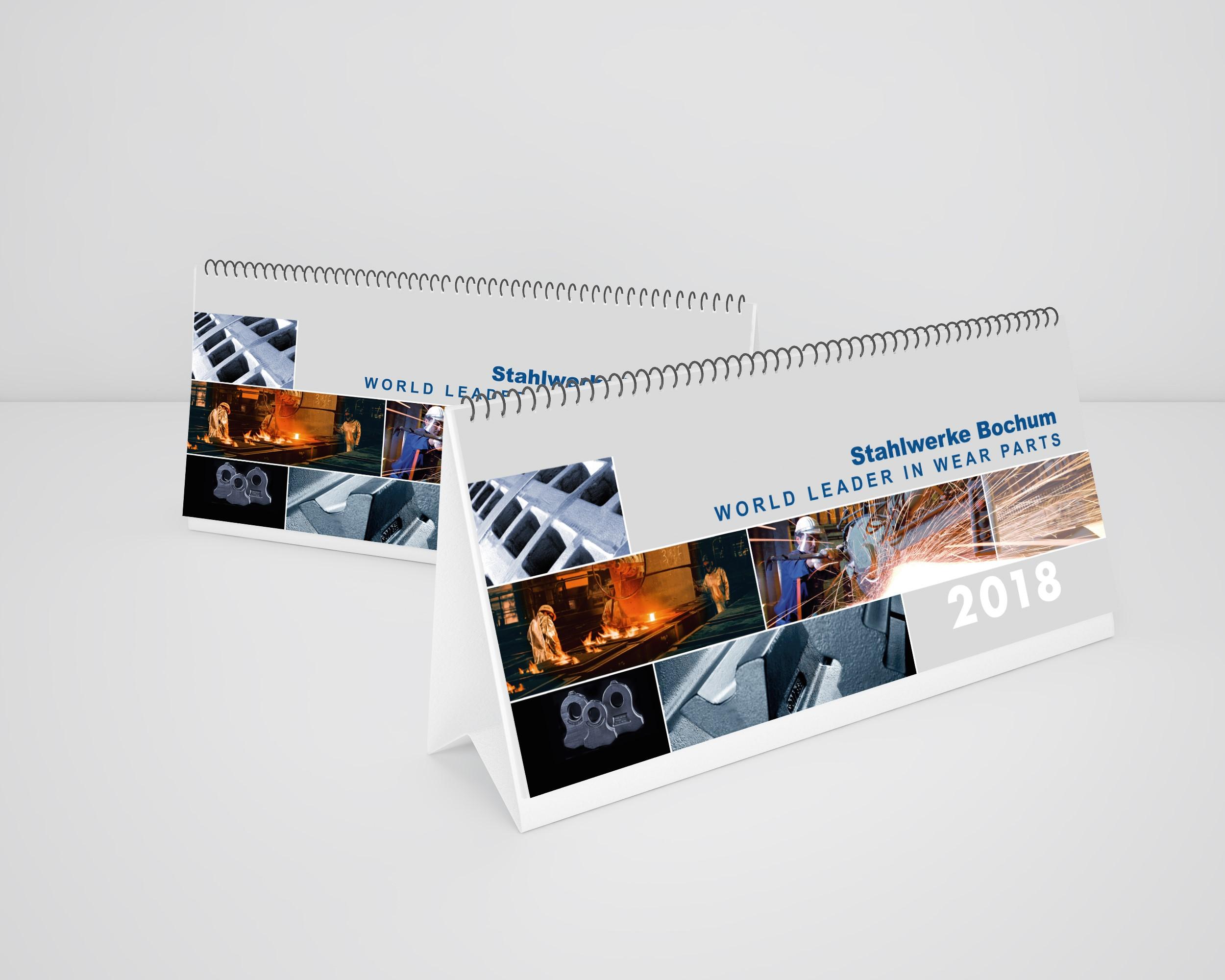 Tischkalender Stahlwerke Bochum