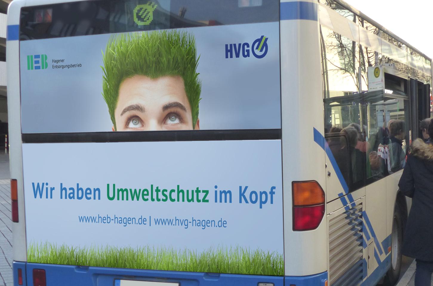 HEB Buswerbung